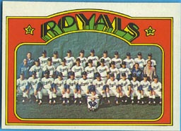 1972 Topps Baseball Cards      617     Kansas City Royals TC